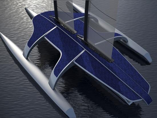 Un système d'aile repliable augmentera le secteur de pile solaire de 40% en conditions calmes (la courtoisie de la conception de Shuttleworth)
