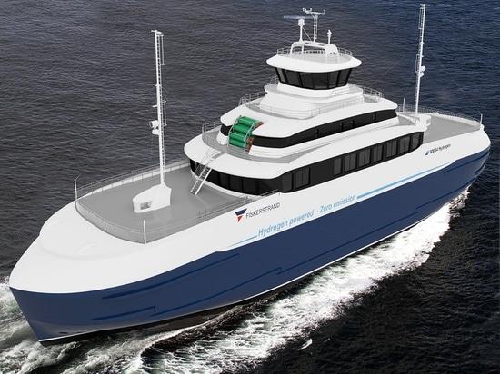Projet de ferry à la force de l'hydrogène en Norvège (courtoisie de Fiskerstrand)