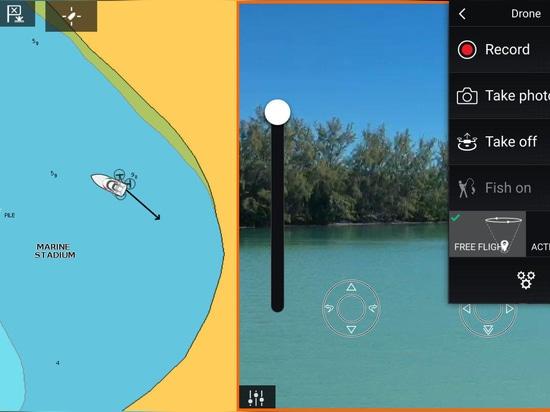 Applis de Raymarine microfarad trois manières : du contrôle de bourdon aux comms reposés à couler de vidéo