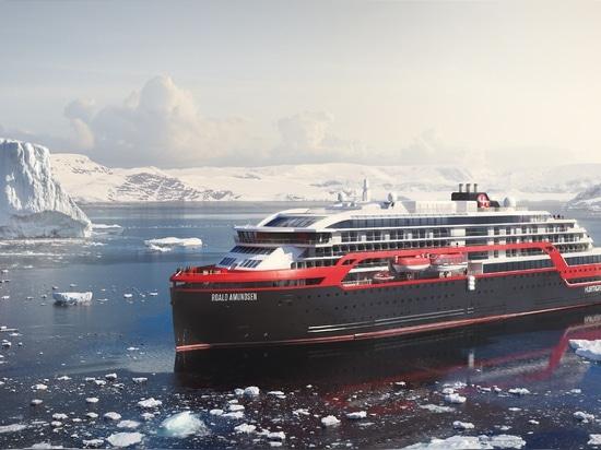 Hurtigruten met à l'eau le nouveau bateau de croisière hybride