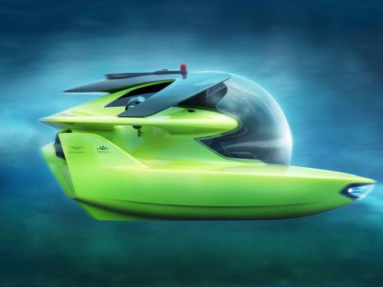 Phase de conception complète de sous-marins et d'Aston Martin de Triton pour le submersible tout-électrique de profond-plongée