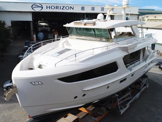 L'horizon fait de la navigation de plaisance le modèle FD77 est en voie d'achèvement