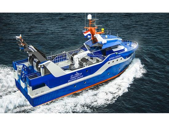 Les fournisseurs du nouveau bateau de la pêche diesel-électrique d'Ekofish ont annoncé