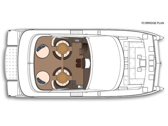 Concept de catamaran de tri plate-forme de 25m des yachts d'Amasea