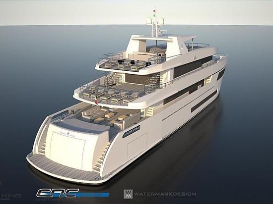 Indiqué : Le yacht de la reine 150 d'océan du roi d'océan