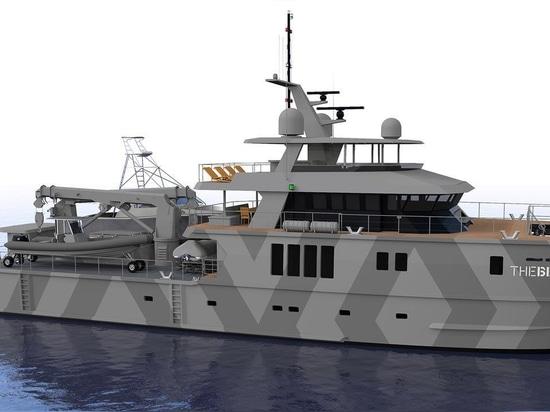 le superyacht d'ingénierie de 39m Profab la bête est en voie d'achèvement