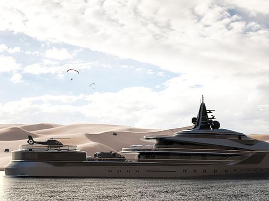 Oceanco dévoile le yacht Esquel d'expédition de 105 mètres