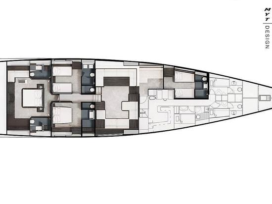Un voilier Solaris 111 de 34m en construction chez Performance Boats