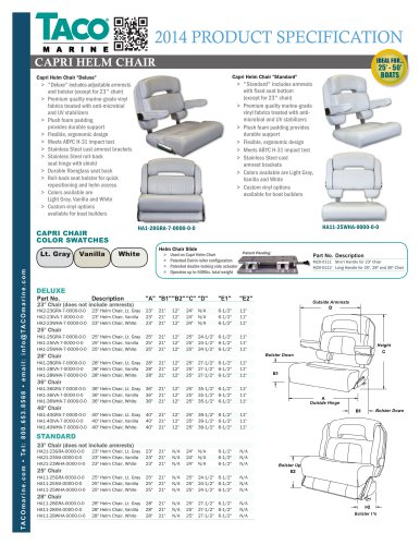 HA Series Capri Helm Chairs