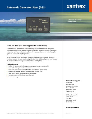 Automatic Generator Start (AGS)