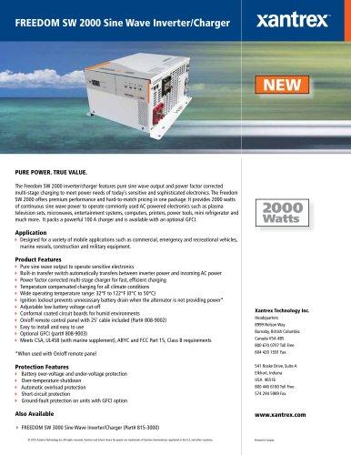FREEDOM SW 2000 Sine Wave Inverter/Charger