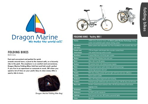 DRAGON MARINE FOLDING BIKES