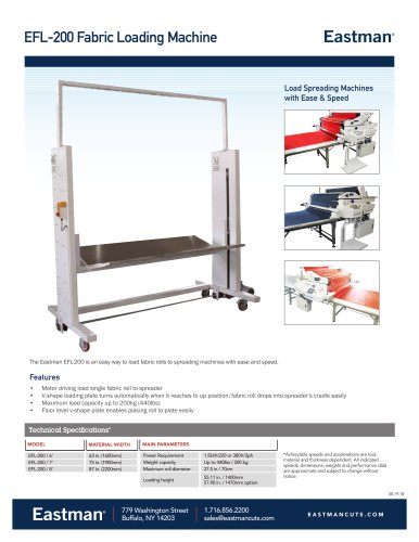 EFL-200 Fabric Loading Machine