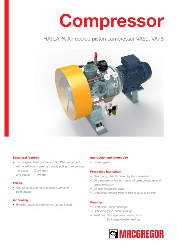 HATLAPA Air-cooled piston compressor VA60, VA75
