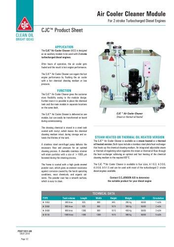 Air cooler cleaner module
