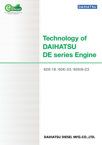 Technology of DAIHATSU DE series Engine