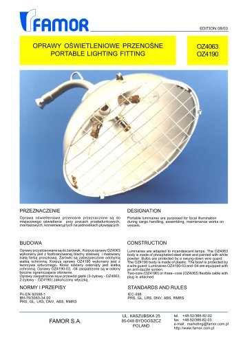 PORTABLE LIGHTING FITTING