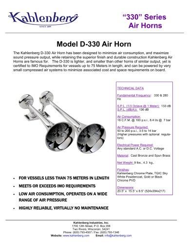 Model D-330 Air Horn