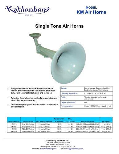 MODEL KM Air Horns