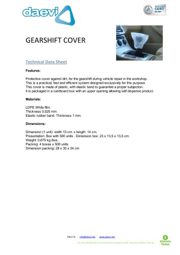 Gearshift cover