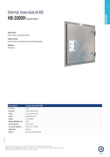 HB-5000 hatch (heavy duty)