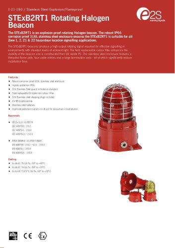 STExB2RT1 Rotating Halogen Beacon
