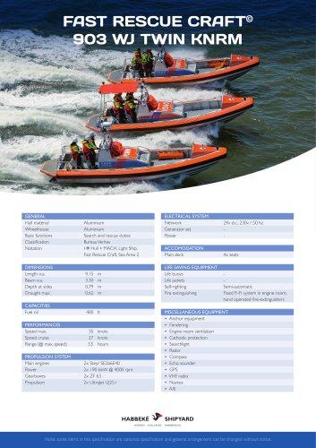 Fast Rescue Craft 903 WJ twin KNRM