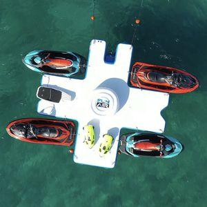 jeu aquatique plateforme / île / gonflable / flottant