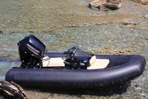bateau pneumatique hors-bord / électrique / RIB / à console centrale