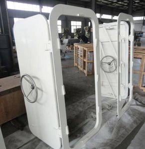 porte pour navire / coulissante verticale / avec charnière latérale / étanche