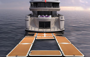 plateforme pour yacht / gonflable / modulable