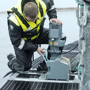 treuil pour l'aquaculture / à moteur électrique