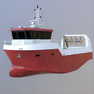 bateau professionnel bateau de pêche polyvalent / in-bord / diesel / en aluminium