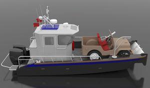 bateau professionnel bateau utilitaire / bateau de débarquement / hors-bord / en HDPE