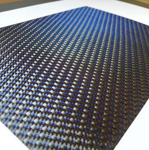 tissu composite fibre de carbone / fil métallique / tissé