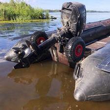 roue de mise à l'eau pour bateau