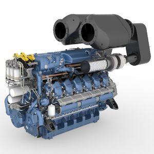moteur in-bord / diesel / pour bateau professionnel / injection directe
