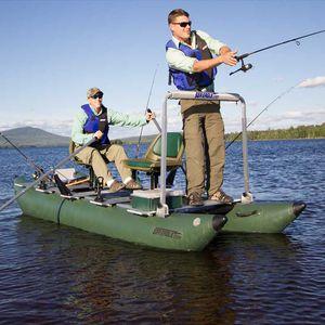 bateau pneumatique catamaran / hors-bord / pliable / pour la pêche