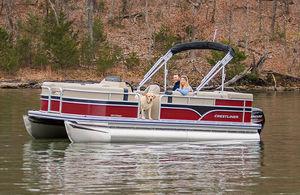 bateau ponton hors-bord / de ski nautique / de pêche sportive / en aluminium
