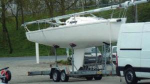 remorque de route / pour voilier