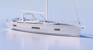 sailing-yacht de croisière / cockpit ouvert / 3 cabines / double barre à roue