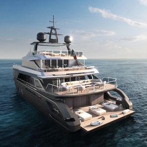 super-yacht de croisière / PRV / en carbone / 7 cabines