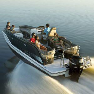 bateau ponton hors-bord / de ski nautique / de wakeboard / max. 14 personnes