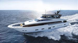 super-yacht de croisière / à fly / raised pilothouse / en composite