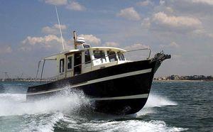 bateau de pêche-croisière hors-bord / in-bord / bimoteur / avec timonerie