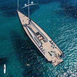 sailing-superyacht de croisière / cockpit ouvert / 3 cabines / sloop