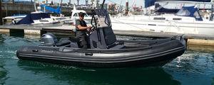 bateau pneumatique hors-bord / RIB / à console centrale / open