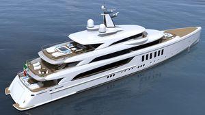 mega-yacht de croisière / avec timonerie / 6 cabines / sur mesure