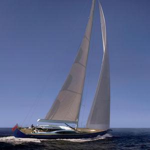 sailing-superyacht de croisière / salon de pont / 6 cabines / sloop