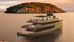 super-yacht de croisière / raised pilothouse